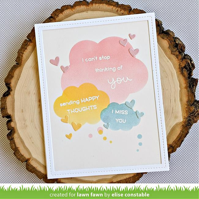 Thought Bubbles, Lawn Fawn Stencils -