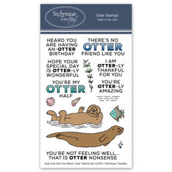 Opal and Otis the Otters, Technique Tuesday Clear Stamps -