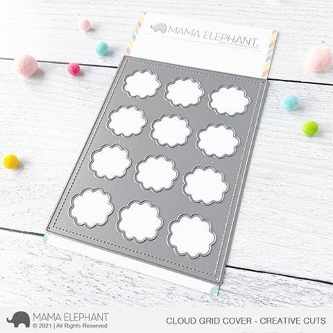 Cloud Grid Cover, Mama Elephant Creative Cuts -