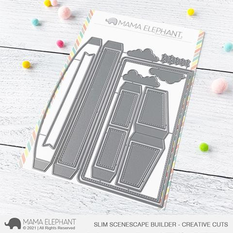 Slim Scenescape Builder, Mama Elephant Creative Cuts -