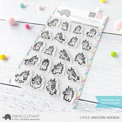 Little Unicorn Agenda, Mama Elephant Clear Stamps -
