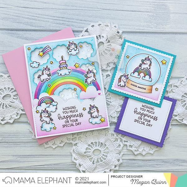 Mixed Wishes Greetings, Mama Elephant Clear Stamps -