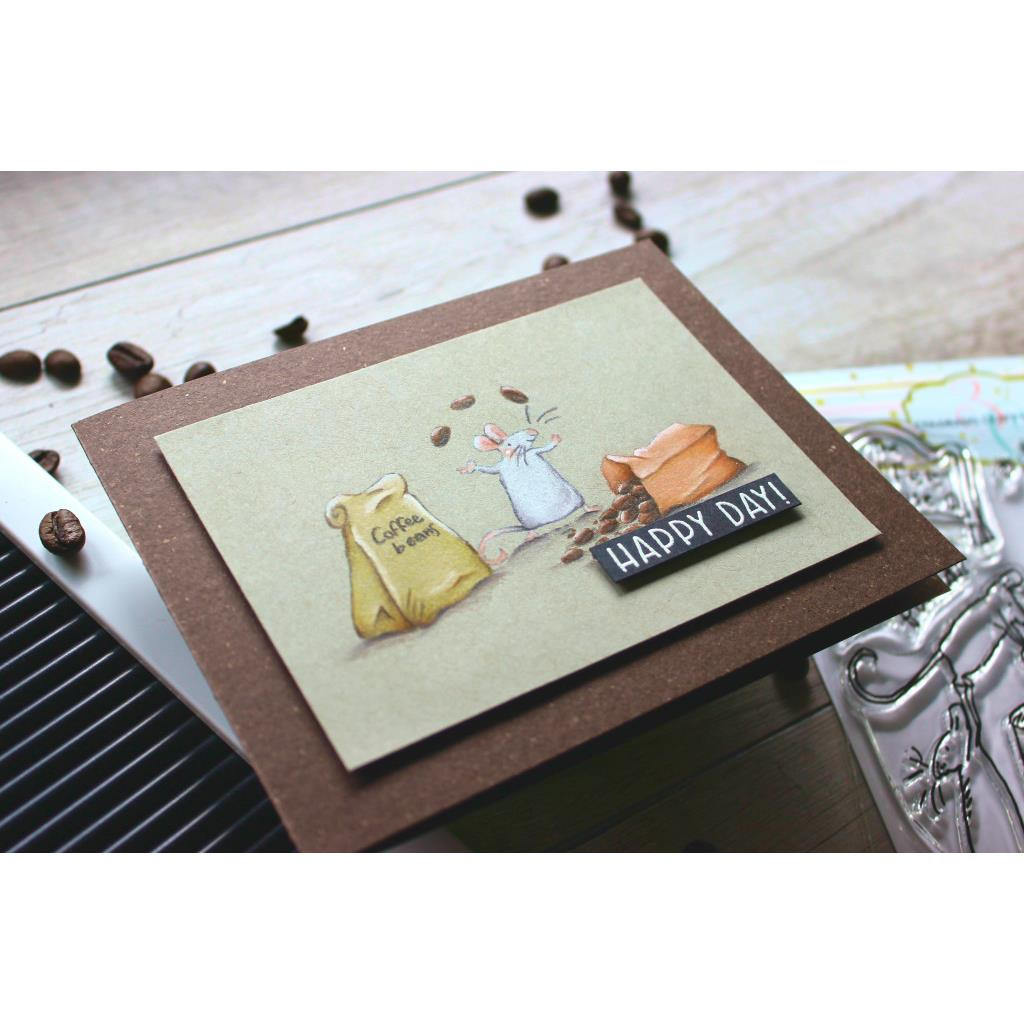 Coffee House by Anita Jeram, Colorado Craft Company Clear Stamps -