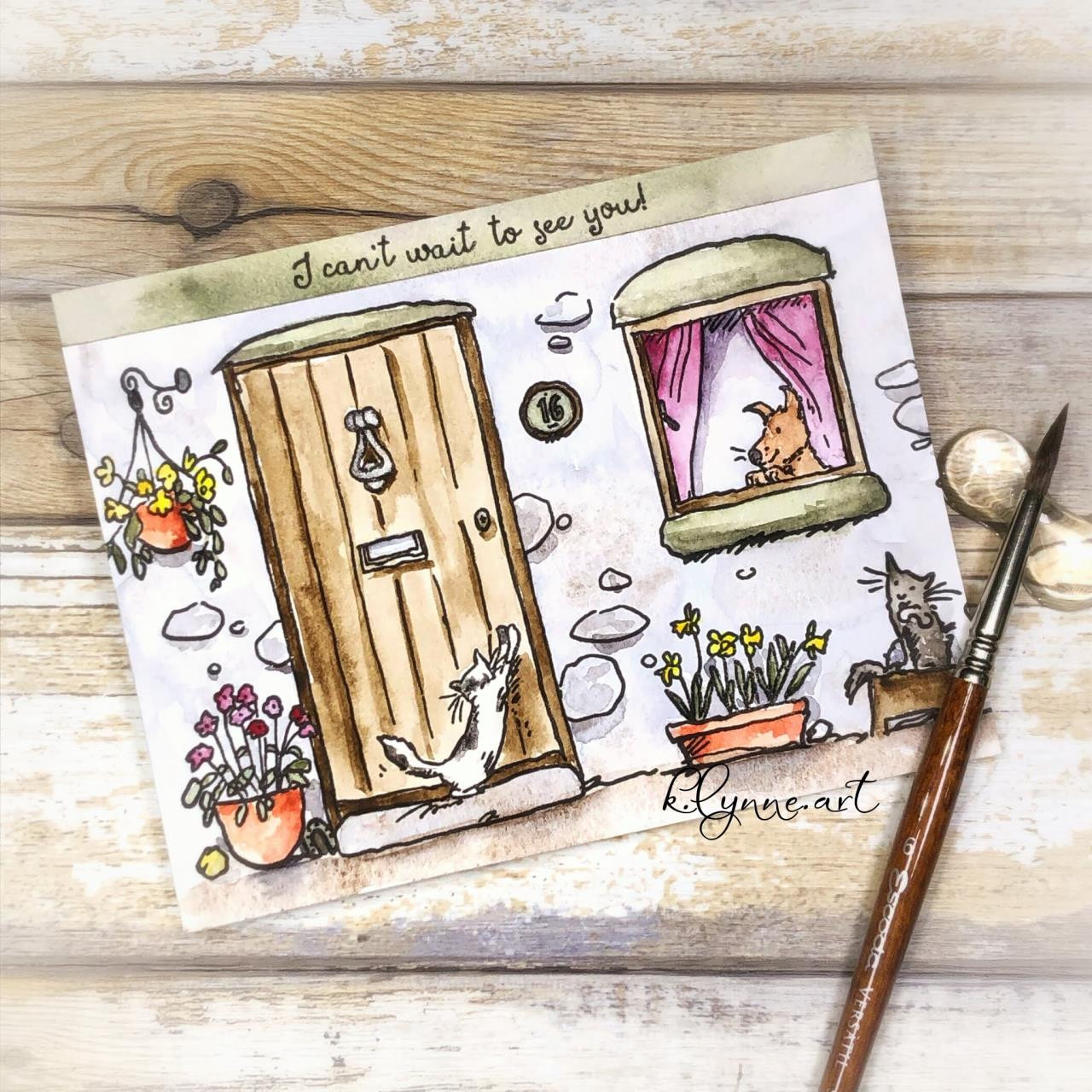 Home Sweet Home by Anita Jeram, Colorado Craft Company Clear Stamps -