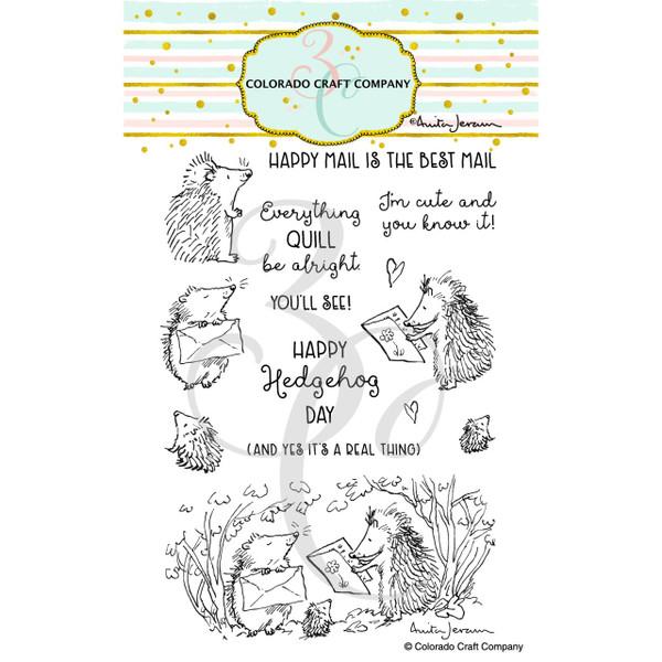 Hedgehog Day by Anita Jeram, Colorado Craft Company Clear Stamps -