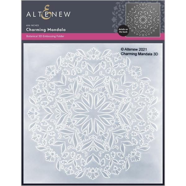 Charming Mandala 3D, Altenew Embossing Folders -