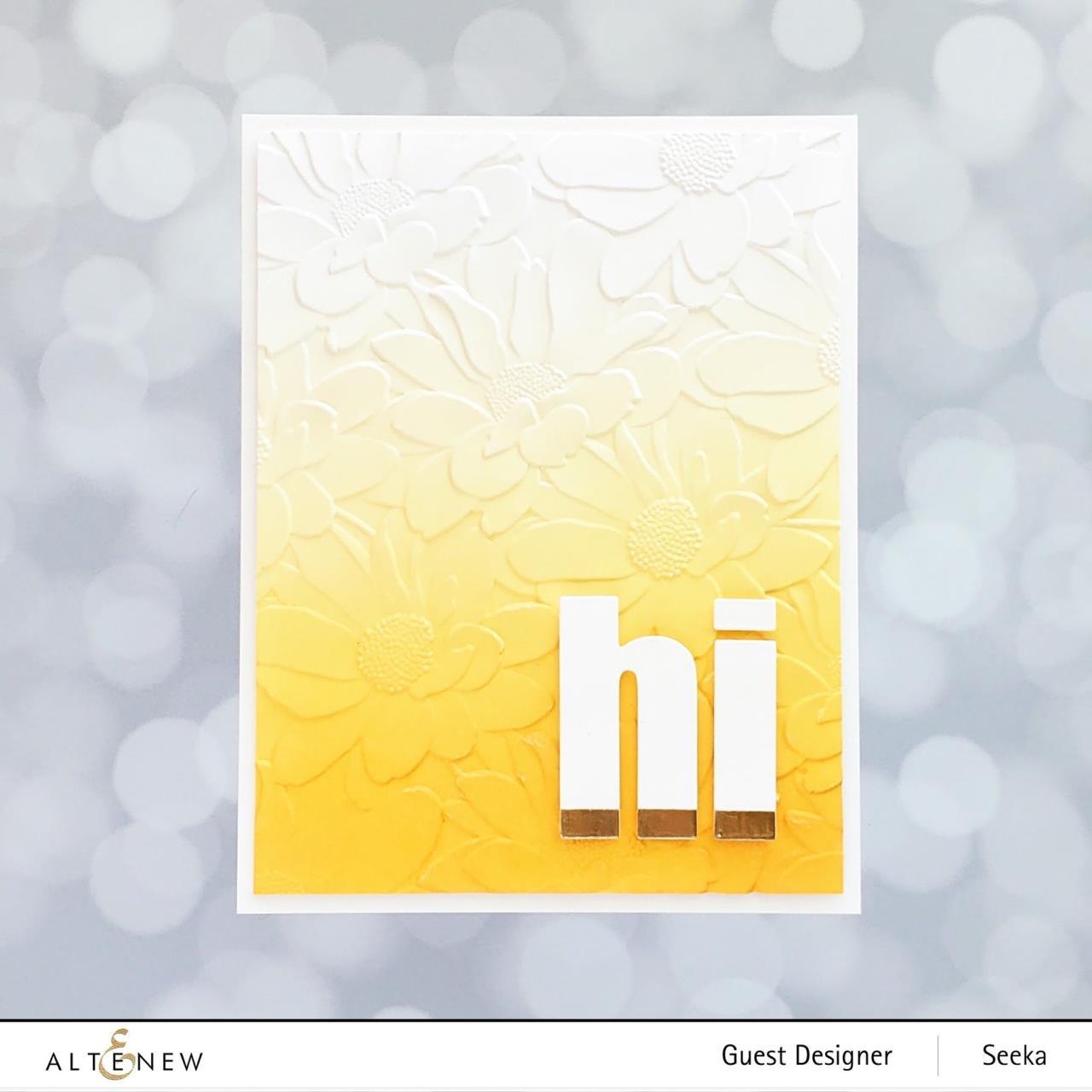 Daisy Bed 3D, Altenew Embossing Folders -