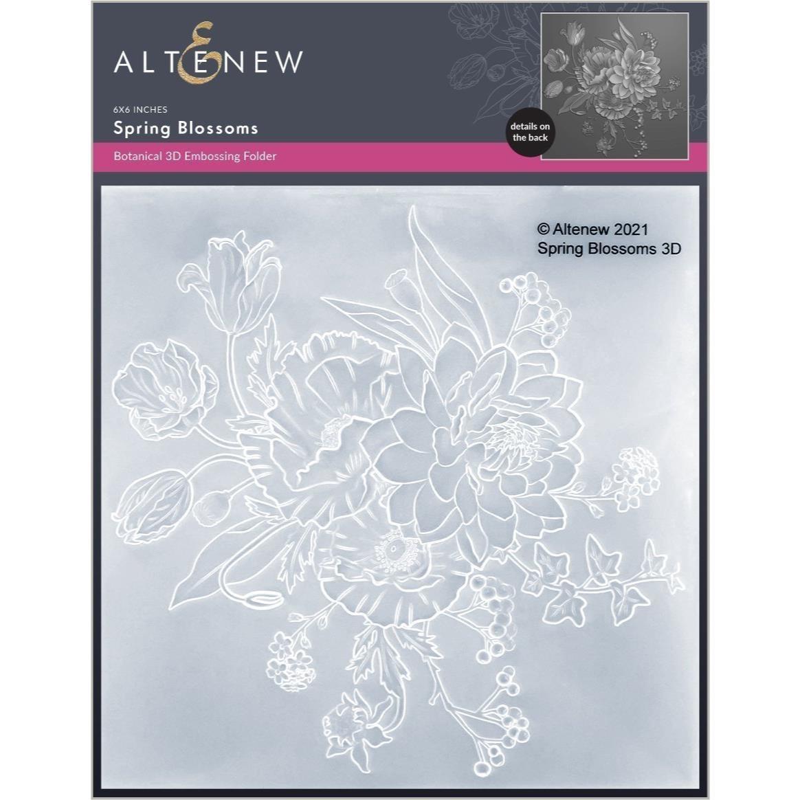 Spring Blossoms 3D, Altenew Embossing Folders -