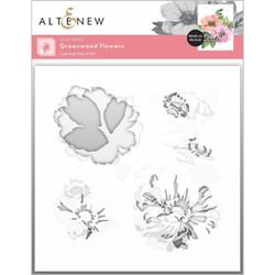 Greenwood Flowers, Altenew Stencils -