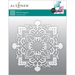 Henna Square, Altenew Stencils -