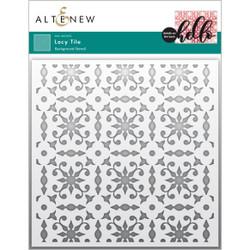 Lacy Tile, Altenew Stencils -