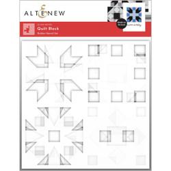 Quilt Block, Altenew Stencils -