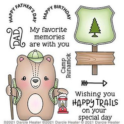 Happy Trails, Darcie's Clear Stamps -