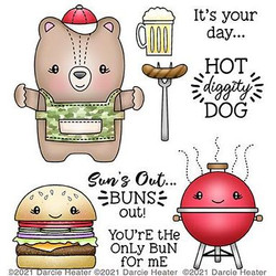 Hot Diggity Dog, Darcie's Clear Stamps -