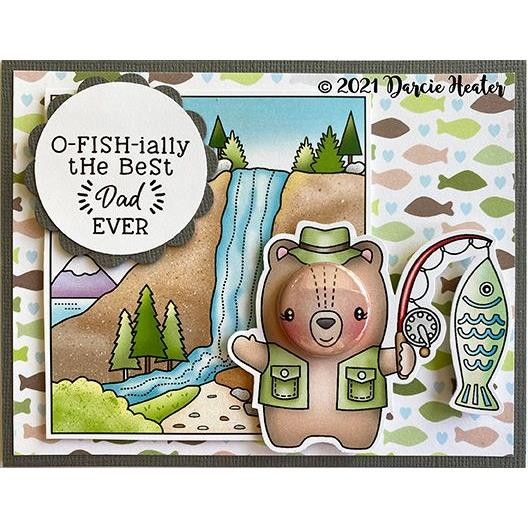 O-fish-ially, Darcie's Clear Stamps -