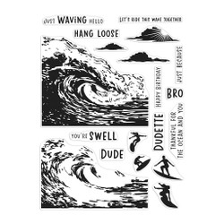 Barrel Wave Heroscape, Hero Arts Clear Stamps -