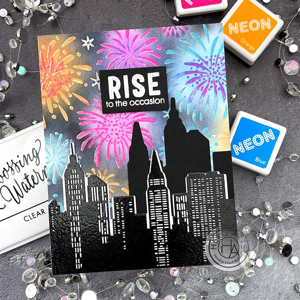Fireworks Bold Prints, Hero Arts Cling Stamps -