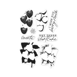 Color Layering Strawberries, Hero Arts Clear Stamps -