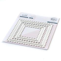 Essentials: Stitched Scallop Square, Pinkfresh Studio Dies -