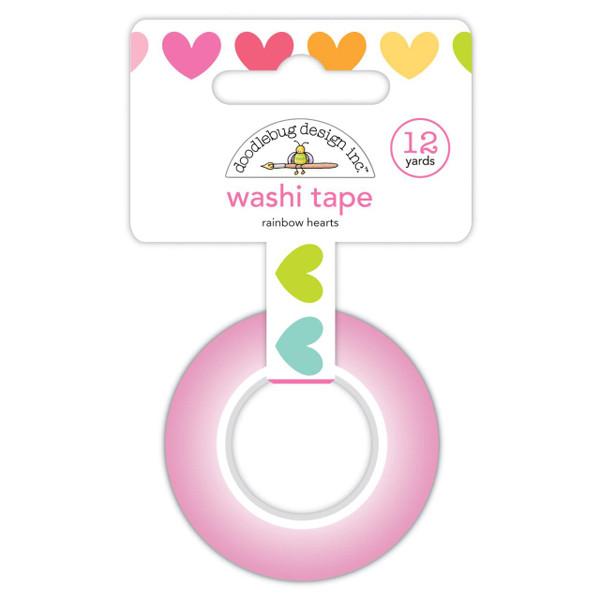 Rainbow Hearts, Doodlebug Washi Tape -
