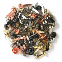 Metallic Assortment, Doodlebug Mini Brads -