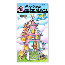 Hen House Cubbies, Art Impressions Clear Stamps -