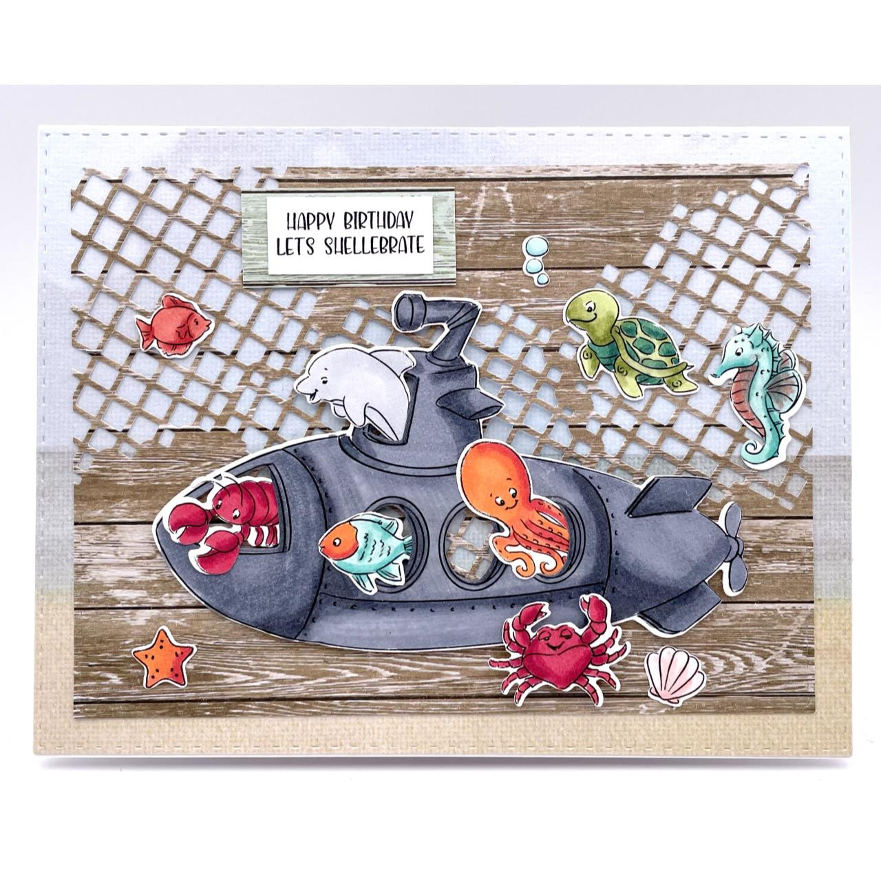 Submarine Cubbies, Art Impressions Clear Stamps -