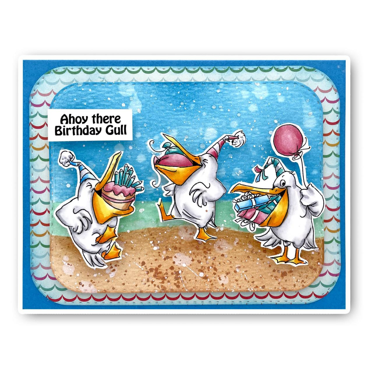 Gull-Friends, Art Impressions Clear Stamps -