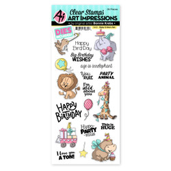 Baby Critters, Art Impressions Clear Stamps -