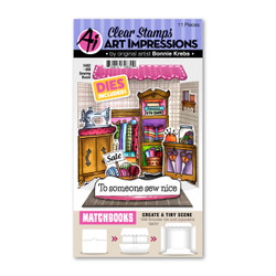 Matchbooks Sewing Room, Art Impressions Clear Stamps -