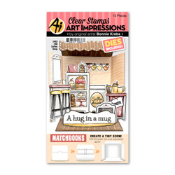 Matchbooks Coffee Shop, Art Impressions Clear Stamps -