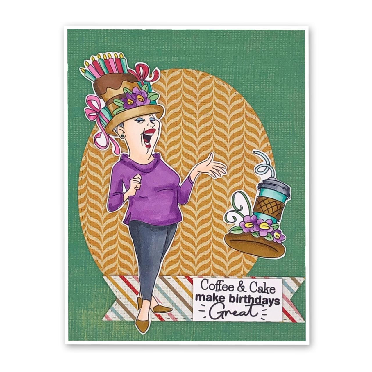Miss, Art Impressions Clear Stamps -
