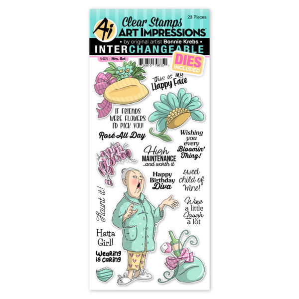 Mrs., Art Impressions Clear Stamps -