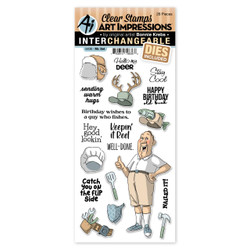 Mr., Art Impressions Clear Stamps -