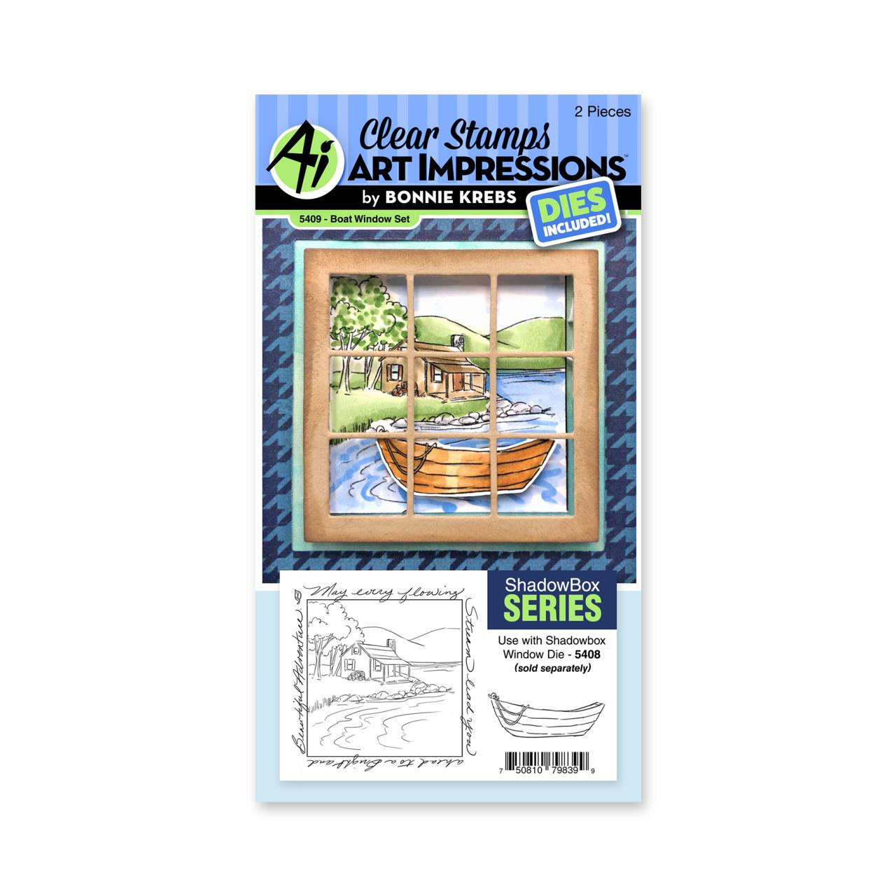 Boat Window Accessory, Art Impressions Clear Stamps -
