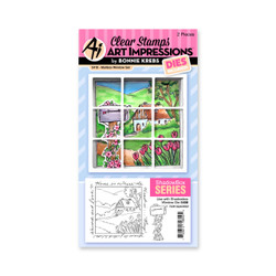 Mailbox Window Accessory, Art Impressions Clear Stamps -