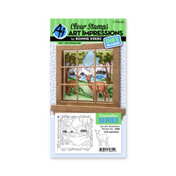 Deer Window Accessory, Art Impressions Clear Stamps -
