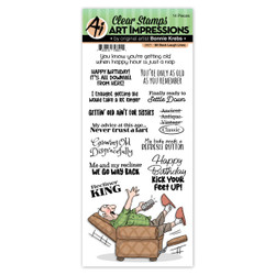 Sit Back Laugh Lines, Art Impressions Clear Stamps -