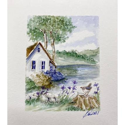 Watercolor Weathered Stumps, Art Impressions Cling Stamps -