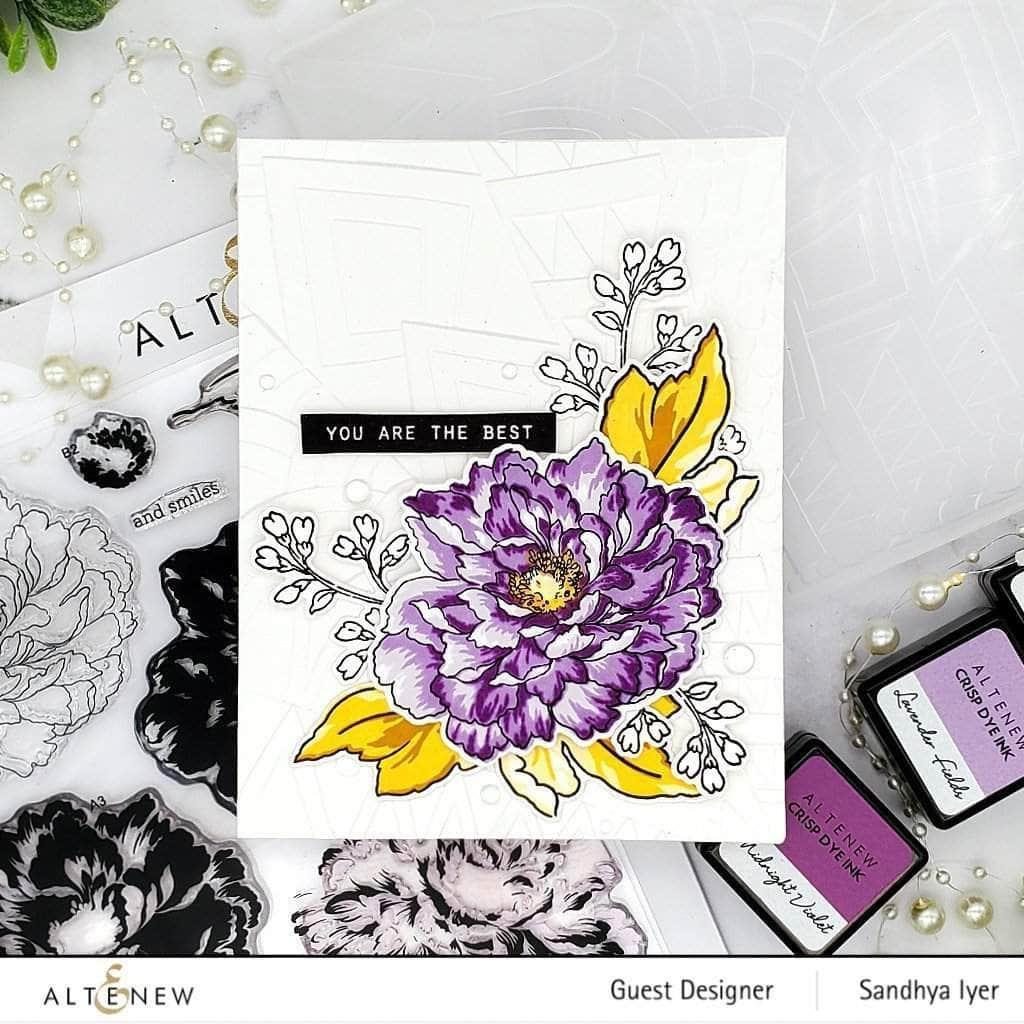 Build-A-Flower: Tree Peony, Altenew Stamp & Die -