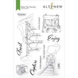 Enjoy Your Journey, Altenew Clear Stamps -