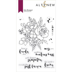 Inky Bouquet, Altenew Clear Stamps -
