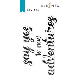 Say Yes, Altenew Clear Stamps -