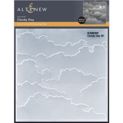 Cloudy Day 3D, Altenew Embossing Folder -