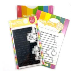 Labelmaker Rainbows, Waffle Flower Stamp & Die Combo -