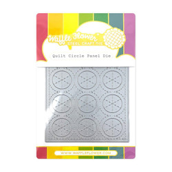 Quilt Circle Panel, Waffle Flower Dies -