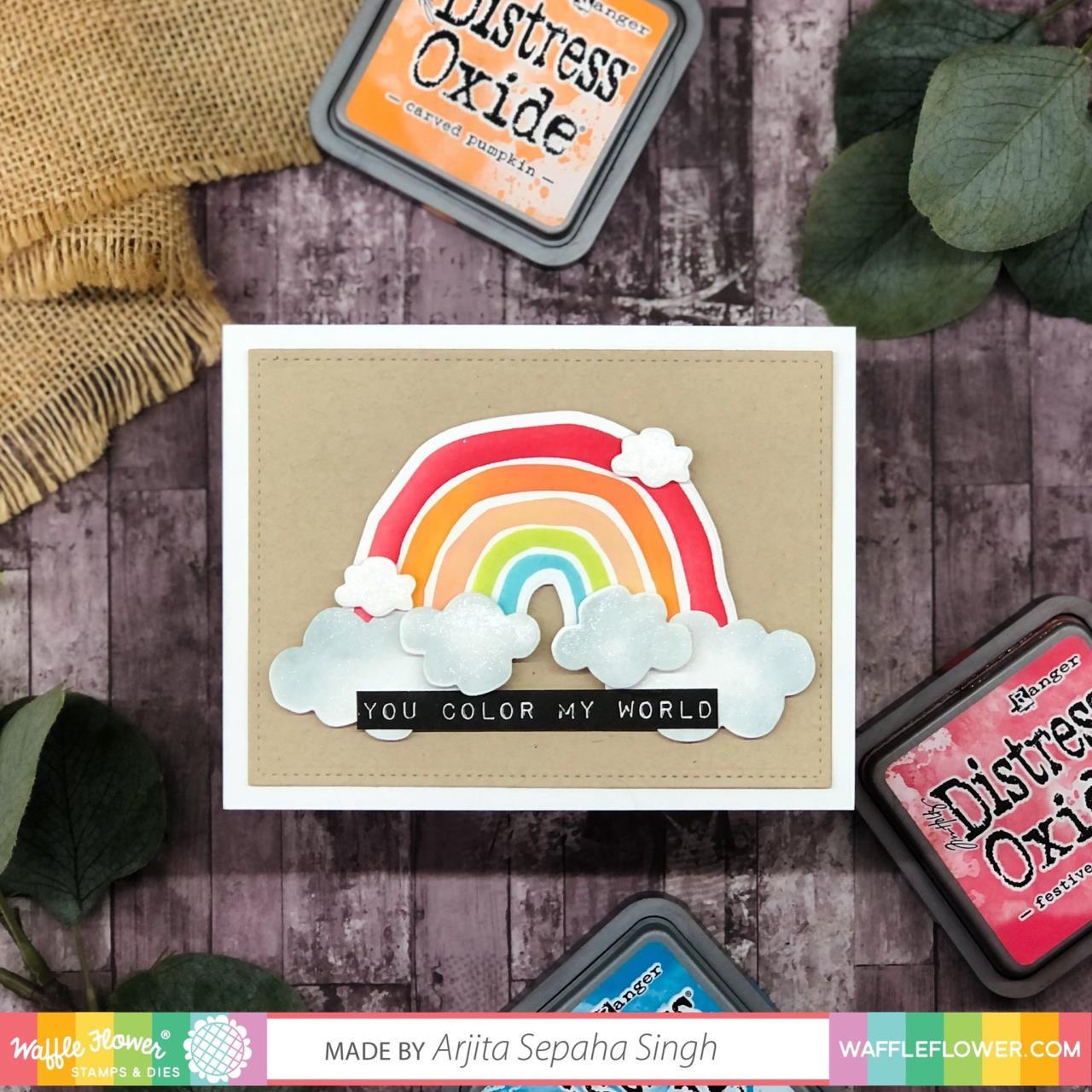 Rustic Rainbow, Waffle Flower Stencils -
