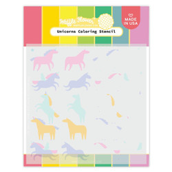 Unicorns, Waffle Flower Stencils -