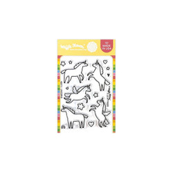Unicorns, Waffle Flower Clear Stamps -