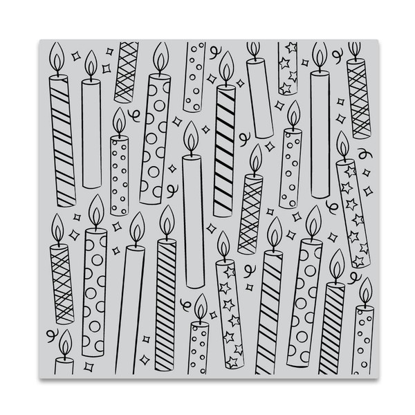 Candles Bold Prints, Hero Arts Cling Stamps -